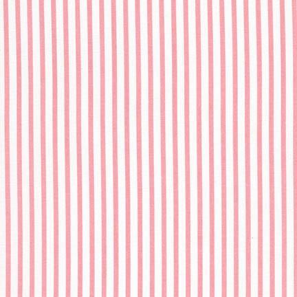 Pink Stripe Fabric by the Yard | 100% Cotton-Fabric-Jack and Jill Boutique