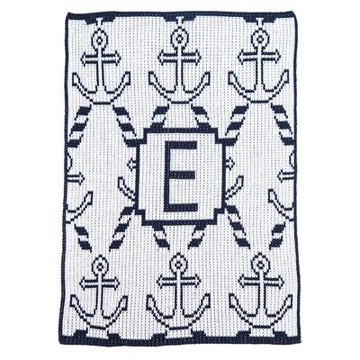 Anchors & Ropes Personalized Stroller Blanket or Baby Blanket-Blankets-Jack and Jill Boutique