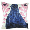 Black Bird in Flowers - Pillow
