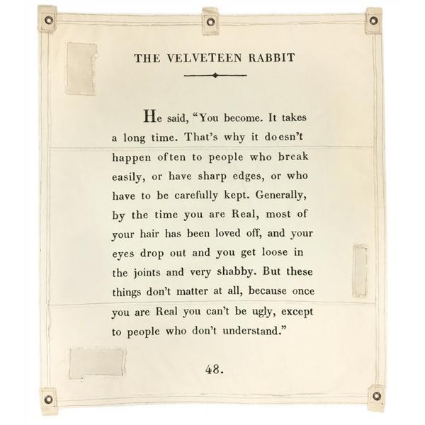 Wall Tarp - Quote from The Velveteen Rabbit Wall Hanging-Wall Tarp-Jack and Jill Boutique