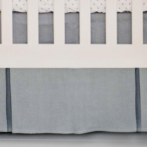 Crib Skirt | Washed Linen in Gray