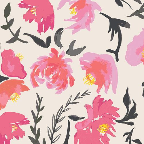 Wonderful Things Aquarelle Floral Rosewater Fabric by the Yard | 100% Cotton-Fabric-Peach-Jack and Jill Boutique