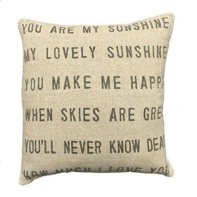 "Pillow Collections - You Are My Sunshine - 24"" x 24""-Pillow Collection-Jack and Jill Boutique"