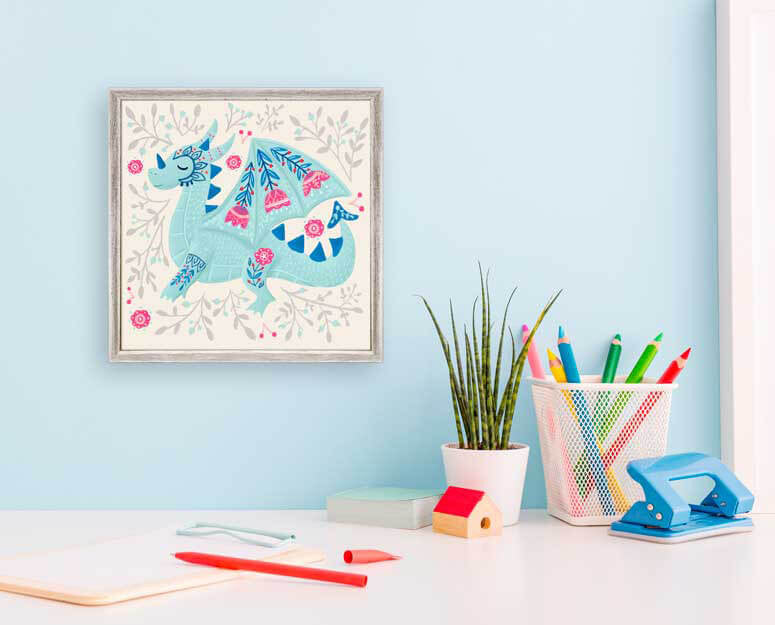 A Dragon Named Arnold - Mini Framed Canvas-Mini Framed Canvas-Jack and Jill Boutique