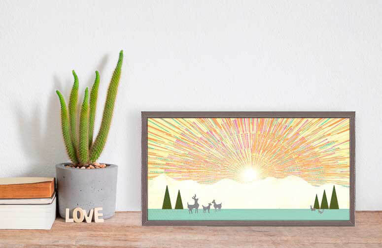 A Little Sunshine - Mini Framed Canvas-Mini Framed Canvas-Jack and Jill Boutique