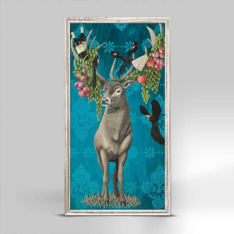 A Picnic For Stag And The Widows - Mini Framed Canvas-Mini Framed Canvas-Jack and Jill Boutique