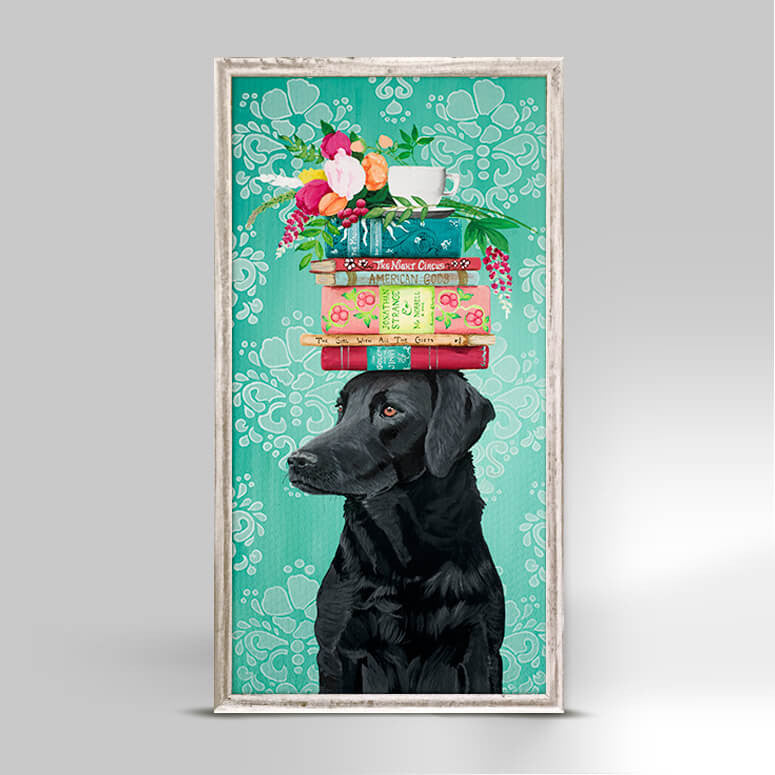 A Woman's Best Friend - Mini Framed Canvas-Mini Framed Canvas-Jack and Jill Boutique