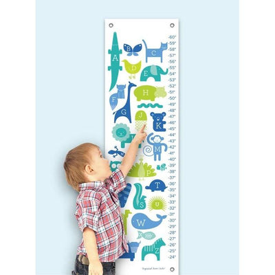 ABC Animalia - Blues Growth Charts-Growth Charts-Default-Jack and Jill Boutique