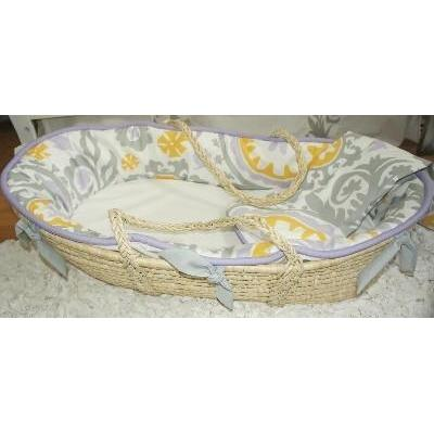 Adair Moses Basket with Custom Bedding-Moses Basket-Default-Jack and Jill Boutique