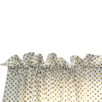 Alexa's Girl Baby Bedding - Gold Dots with Peach and Coral Waterfall Ruffled Skirt-Crib Bedding Set-Default-Jack and Jill Boutique