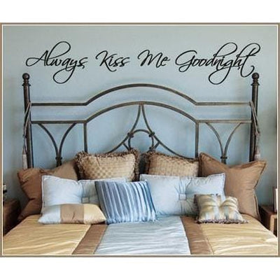Always Kiss Me Goodnight Vinyl Wall Decal-Decals-Jack and Jill Boutique