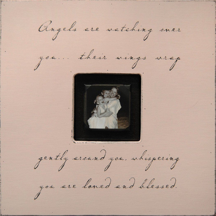 "Handmade Wood Photobox with quote ""Angels are Watching""-Photoboxes-Default-Jack and Jill Boutique"