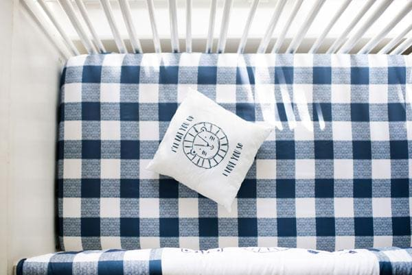 Navy Buffalo Plaid Crib Bedding | 9 Piece Animal Parade Collection-Crib Bedding Set-Jack and Jill Boutique