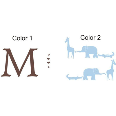 Animal Parade Monogram-Decals-Jack and Jill Boutique
