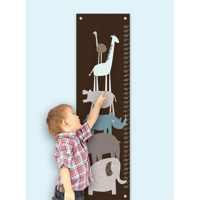 Animal Pile Up - Teal Growth Charts-Growth Charts-Default-Jack and Jill Boutique