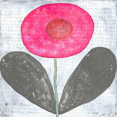 Happy Flower Art Print-Art Print-Jack and Jill Boutique