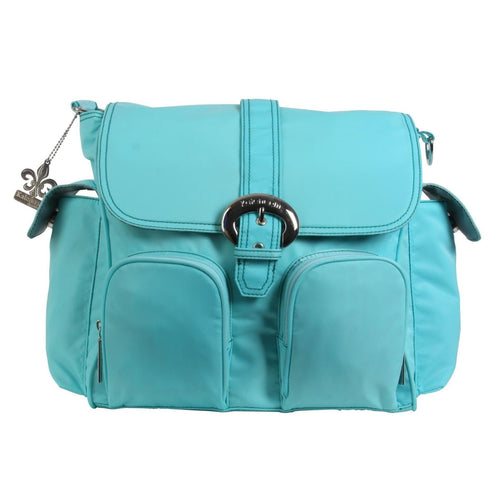 Aqua Nylon Double Duty Diaper Bag | Style 2991 - Kalencom-Diaper Bags-Jack and Jill Boutique