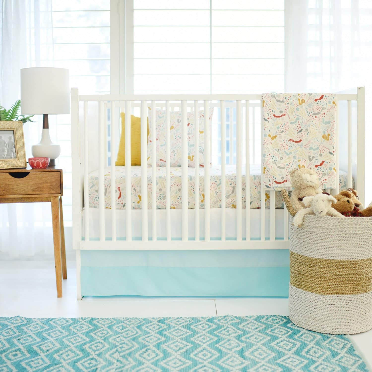 Aqua Woodland Faraway Forest Baby Bedding Set-Crib Bedding Set-Jack and Jill Boutique