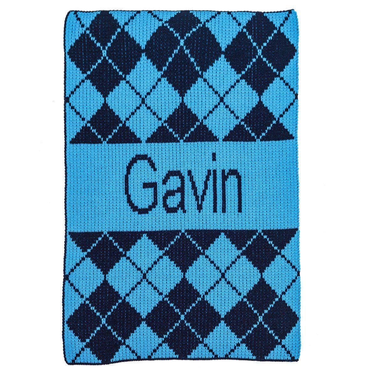 Argyle & Name Personalized Stroller Blanket or Baby Blanket-Blankets-Jack and Jill Boutique