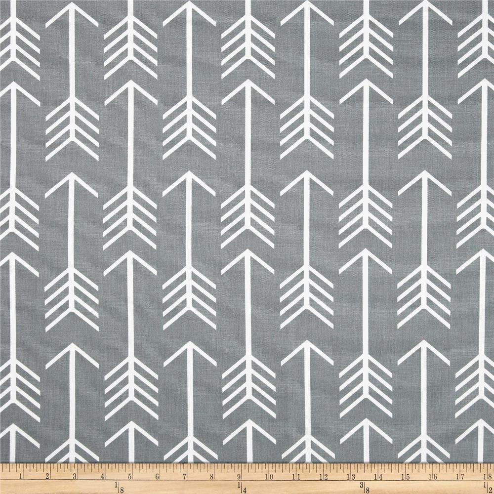 Arrow Print Fabric-Fabric-Cool Gray-Jack and Jill Boutique