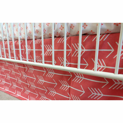 Arrows in Coral White and Coral Baby Bedding-Crib Bedding Set-Default-Jack and Jill Boutique