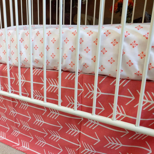 Arrows In Coral White And Coral Baby Bedding Jack And