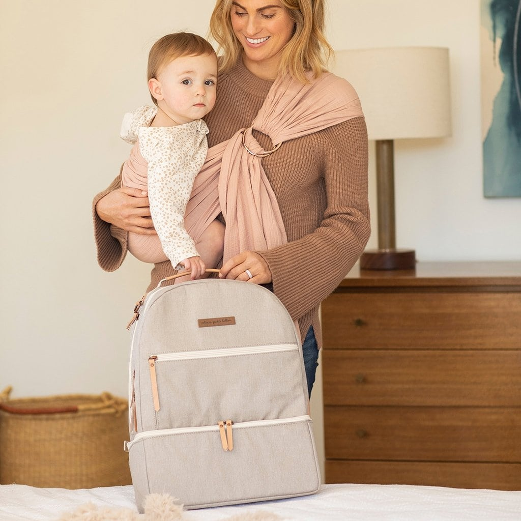 Axis Backpack in Sand-Diaper Bags-Jack and Jill Boutique