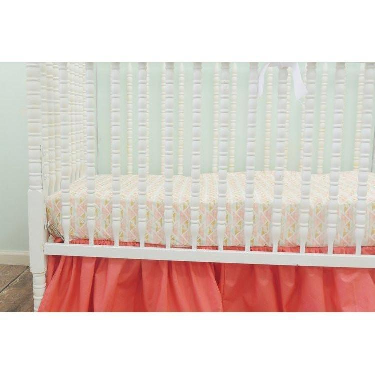 Aztec Baby Bedding | Coral, Peach Crib Bedding-Crib Bedding Set-Default-Jack and Jill Boutique