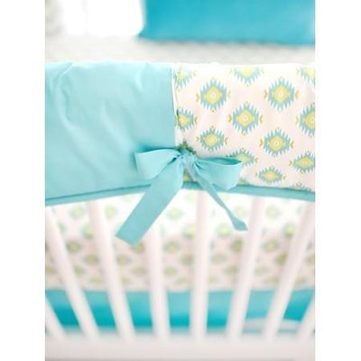 Aztec Baby in Aqua and Gold Baby Bedding Set-Crib Bedding Set-Default-Jack and Jill Boutique