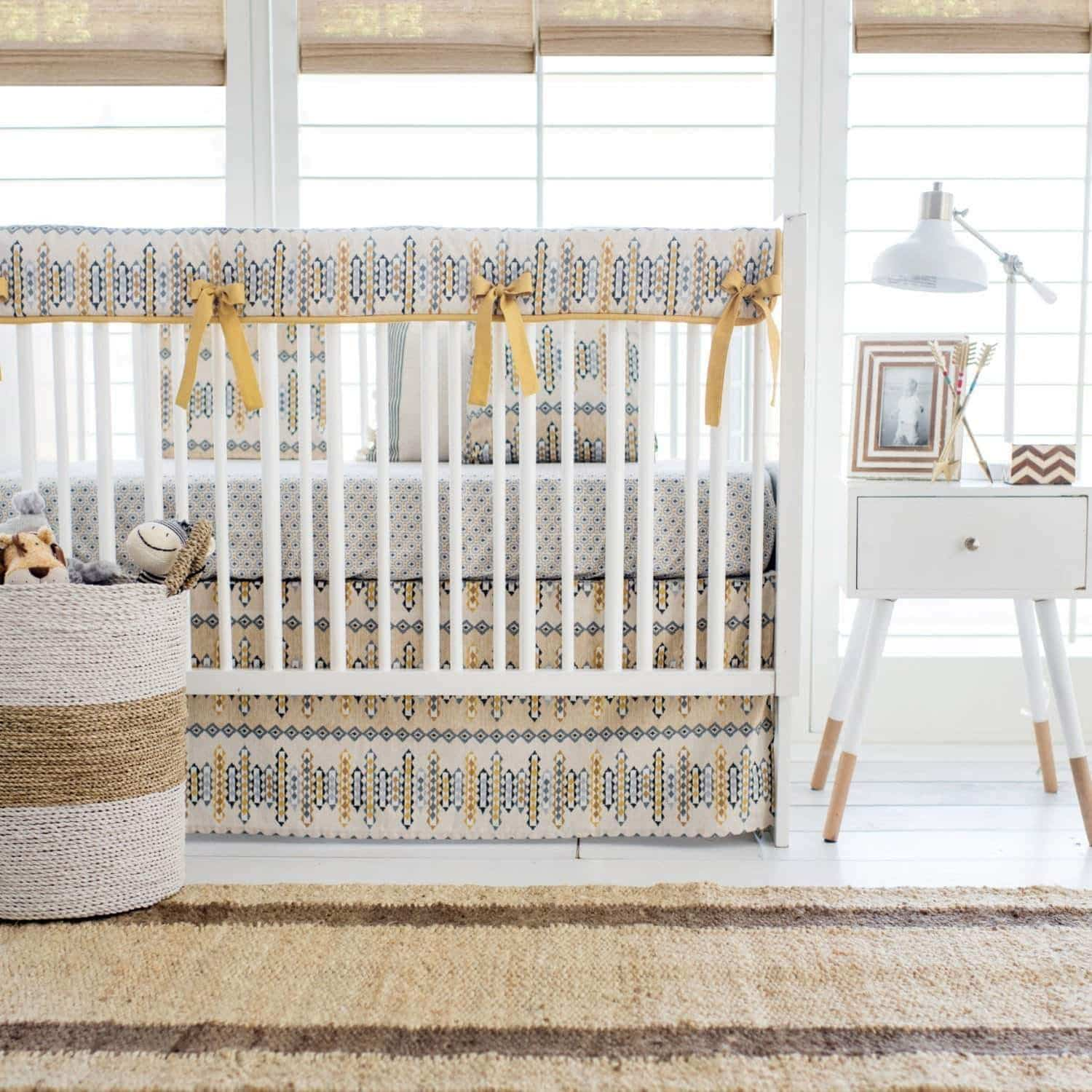 Aztec Navajo in Gold Baby Bedding Set-Crib Bedding Set-Jack and Jill Boutique