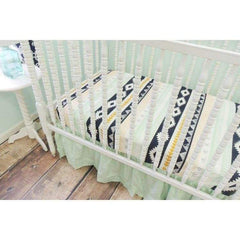 Aztec Theme Baby Bedding | Navy, Peach Crib Bedding Set-Crib Bedding Set-Tushies and Tantrums-Jack and Jill Boutique