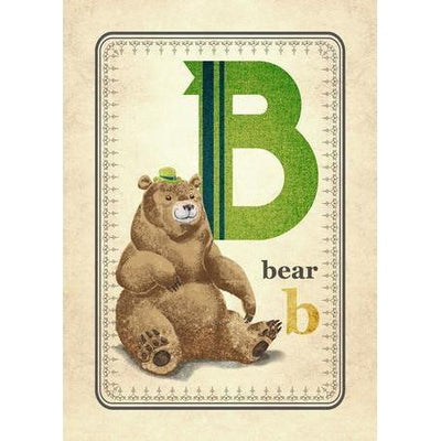 B is for Bear | Canvas Wall Art-Canvas Wall Art-Jack and Jill Boutique