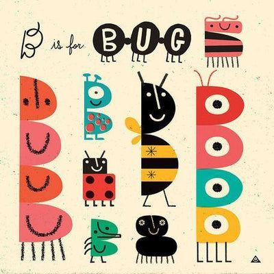 B is for Bug | Canvas Wall Art-Canvas Wall Art-Jack and Jill Boutique