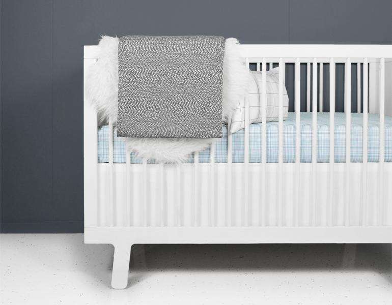 Hatch Blue and White Crib Bedding Set-Crib Bedding Set-Jack and Jill Boutique