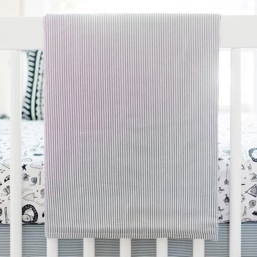 Baby Blanket | Black and White Adventure Awaits-Baby Blanket-Jack and Jill Boutique