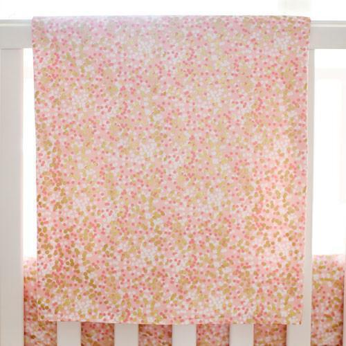 Baby Blanket | Brambleberry Coral and Gold Sparkle-Baby Blanket-Bold Bedding-Jack and Jill Boutique