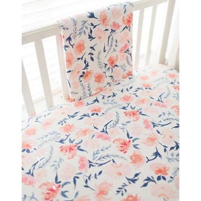 Baby Blanket | Floral Rosewater in Peach-Baby Blanket-Jack and Jill Boutique