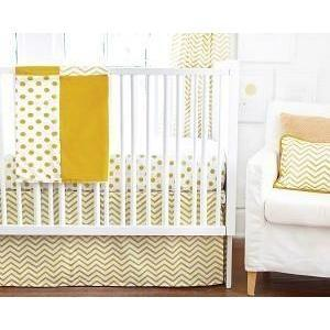 Baby Blanket | Gold Burst Metallic Polka dot and chevron-Baby Blanket-Jack and Jill Boutique