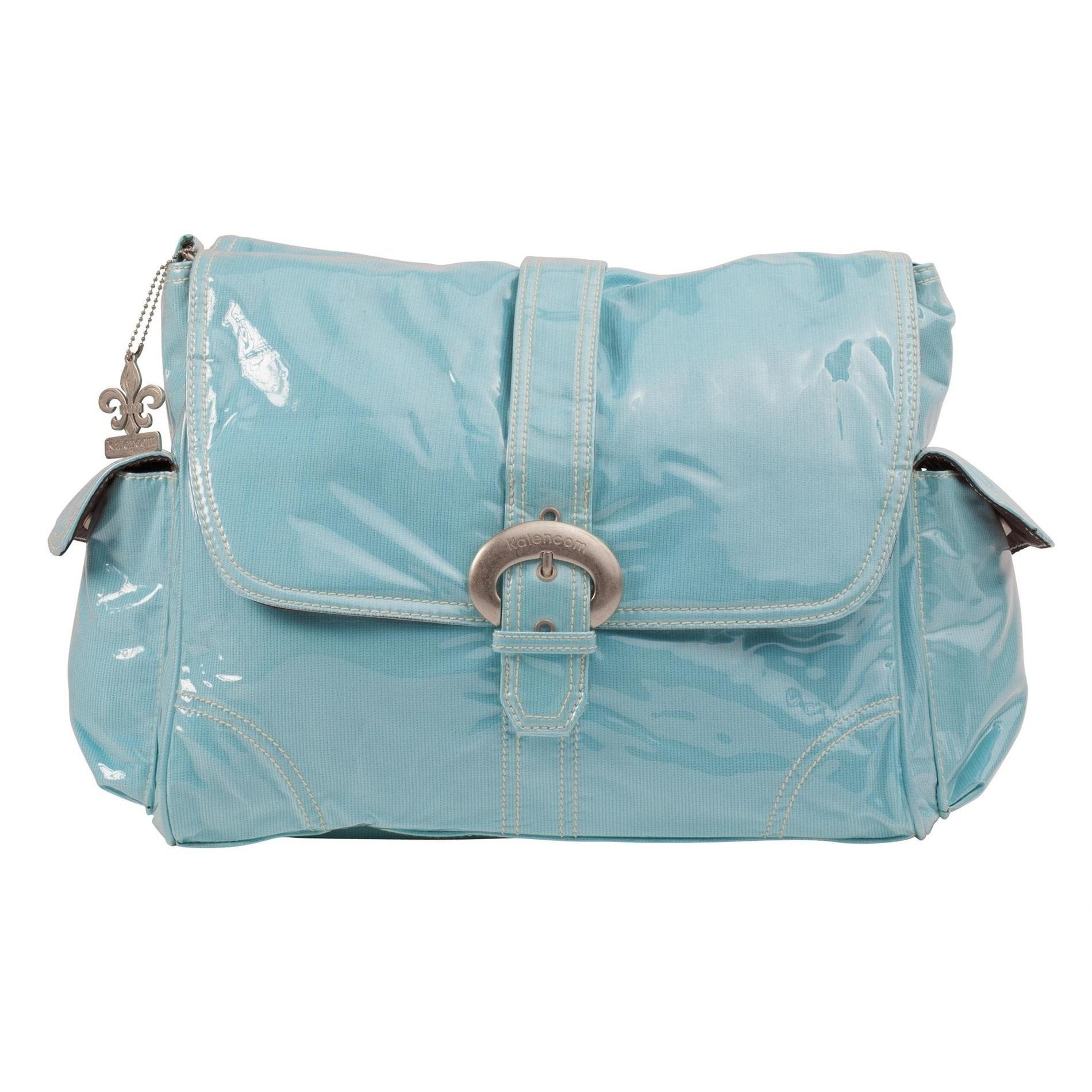Baby Blue Corduroy Laminated Buckle Diaper Bag | Style 2960 - Kalencom-Diaper Bags-Jack and Jill Boutique