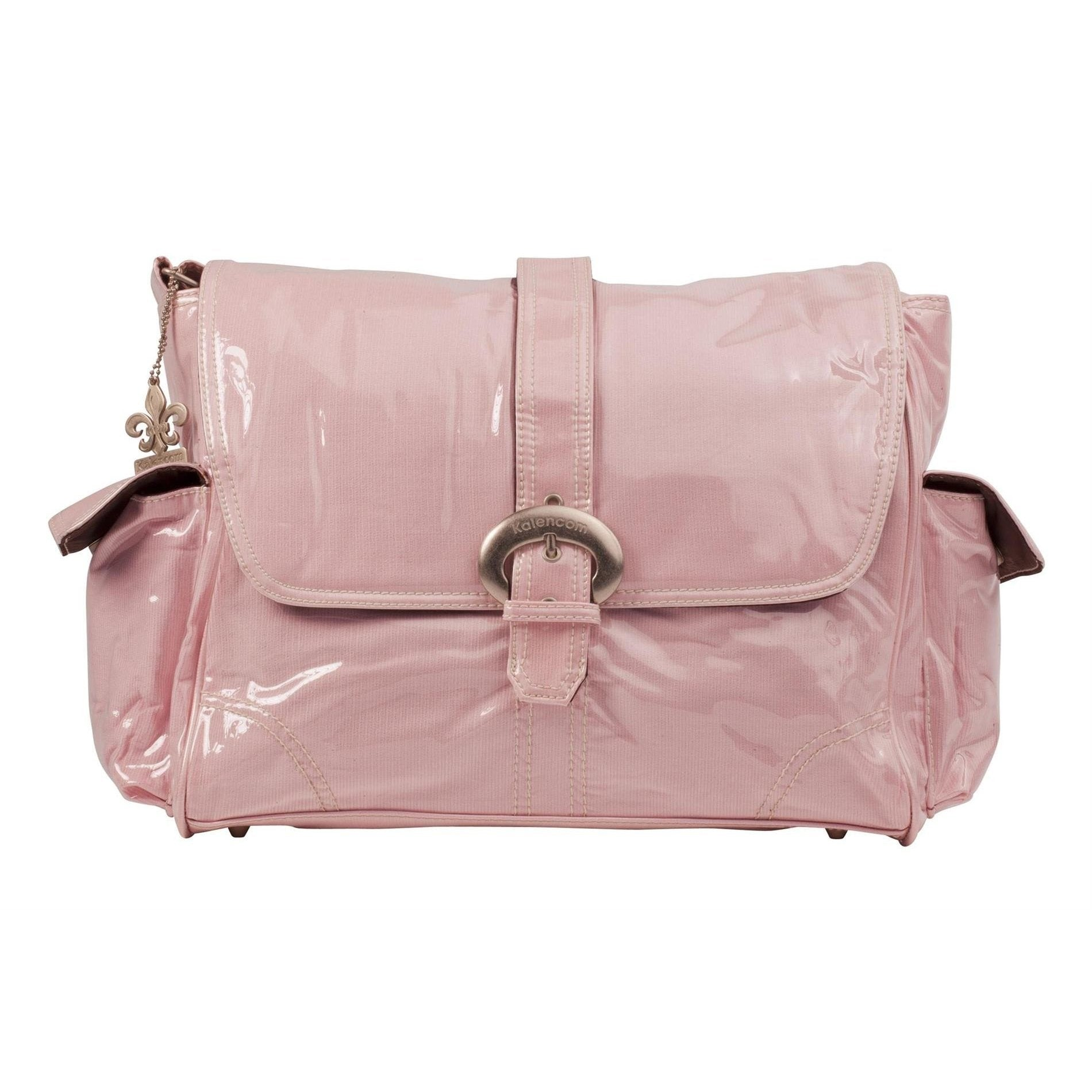 Baby Pink Corduroy Laminated Buckle Diaper Bag | Style 2960 - Kalencom-Diaper Bags-Jack and Jill Boutique