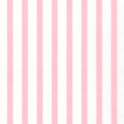 Baby Pink Stripe Fabric by the Yard | 100% Cotton