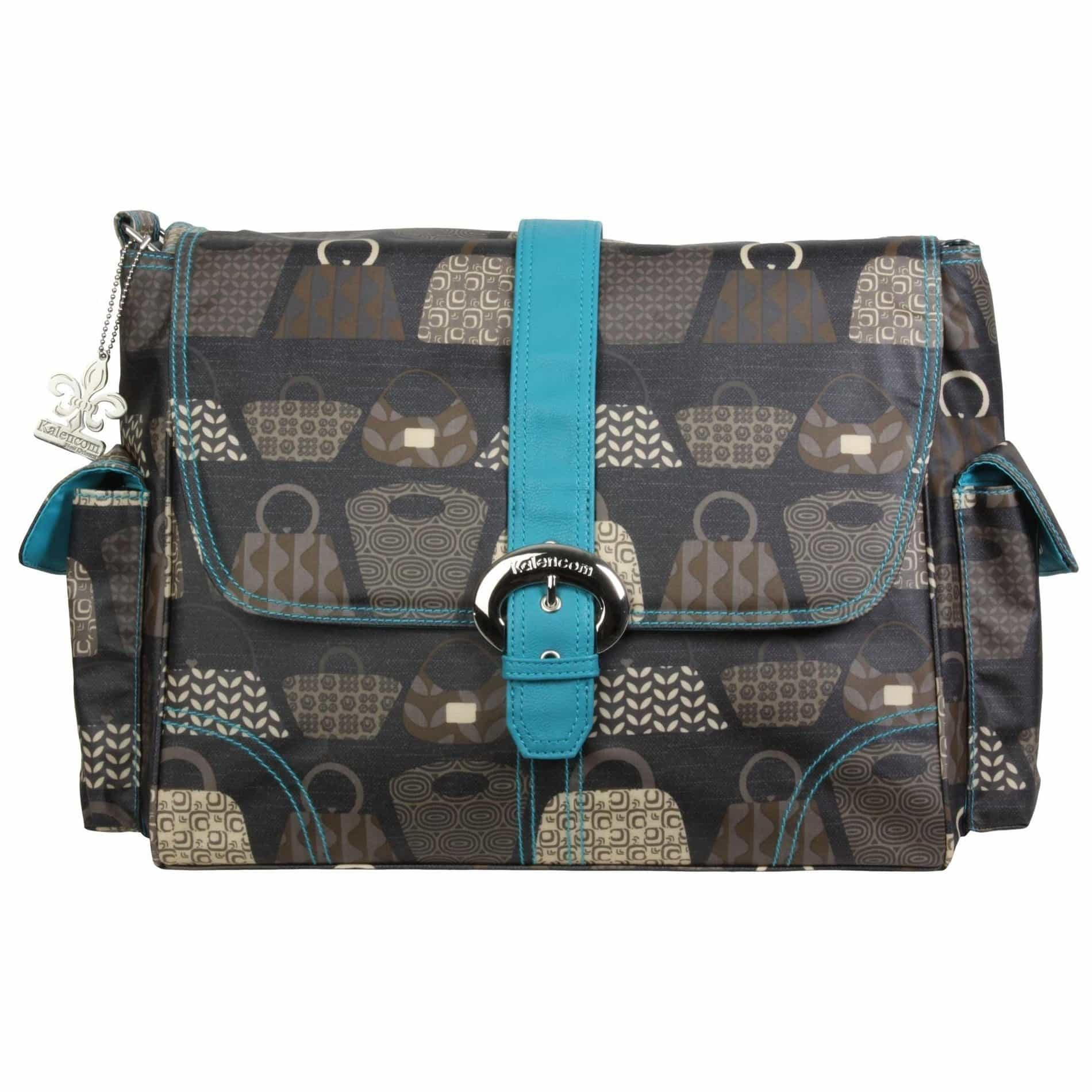 Bag Lady - Teal Matte Coated Buckle Diaper Bag | Style 2960 - Kalencom-Diaper Bags-Jack and Jill Boutique