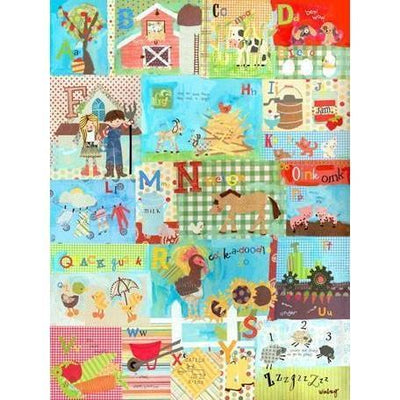 Barnyard Alphabet | Canvas Wall Art-Canvas Wall Art-Jack and Jill Boutique