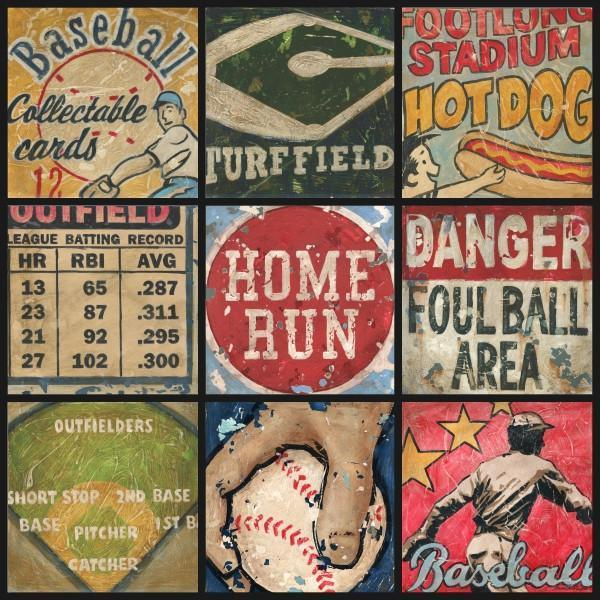 Baseball Collage | America's Favorite Pastime Collection | Canvas Art Prints-Canvas Wall Art-Jack and Jill Boutique