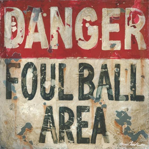 Baseball Danger Foul Ball | America's Favorite Pastime Collection | Canvas Art Prints-Canvas Wall Art-Jack and Jill Boutique
