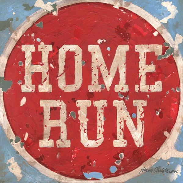 Baseball Home Run | America's Favorite Pastime Collection | Canvas Art Prints-Canvas Wall Art-Jack and Jill Boutique