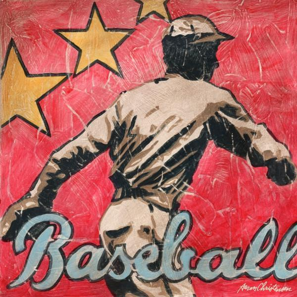 Baseball Star | America's Favorite Pastime Collection | Canvas Art Prints-Canvas Wall Art-Jack and Jill Boutique