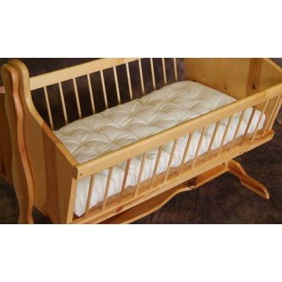Bassinet Mattress, Twill Encased Wool Mattress | Holy Lamb Organics-Crib Mattress-Jack and Jill Boutique
