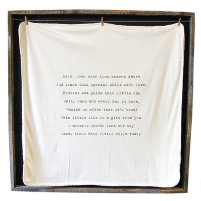 "BABY BLANKET - LORD LOOK DOWN - 36"" x 36"""