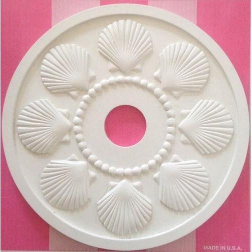 Beachy Seashell Ceiling Medallion-Medallions-Jack and Jill Boutique